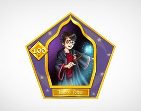 Chocolate Frog Cards 3D model game-ready