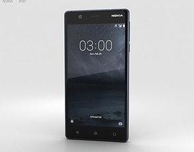 3D nokia Nokia 3 Tempered Blue