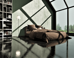 Modern Bedroom 3D interior design