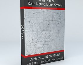 Xian Road Network and Streets 3D