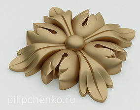 Decor architectural rosette 3d print model 3dprint