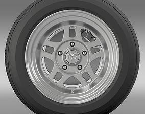 3D model Dodge Challenger Mopar wheel