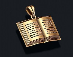 3D printable model Book pendant