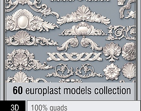 tracery 3D model Pearlworks 60 onlay items collection