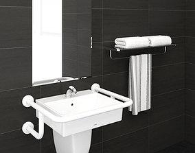 toto Wash basin L710CGUR 3D