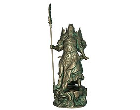 3D print model 3D asset Guan Gong Sculpture