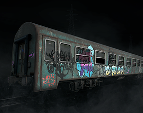 Train Wagon Vandalized 3D model