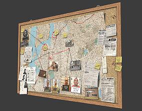 3D model Detective Pinboard