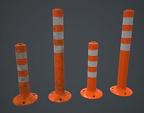 Traffic Bollard PBR Game Ready 3D asset