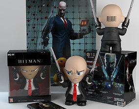 3D model Hitman Agent 47 Vinyl Toy