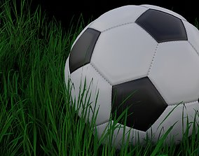 3D model Soccer Ball with and without Stitching