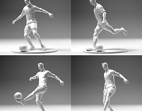 3D print model Footballer 02 Footstrike 4 in 1 Pack Stl