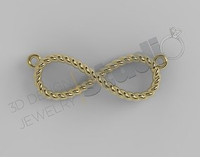 Infinity rope pendant 3d model