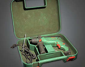 3D model TLS - Impact Drill - PBR Game Ready