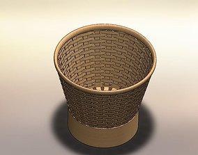 Bamboo rice basket 3D model