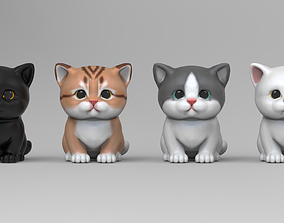 3D print model Cute Kitten STL for