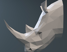 3D asset VR / AR ready Rhinoceros head