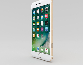 3D model iPhone 7 Plus - Gold