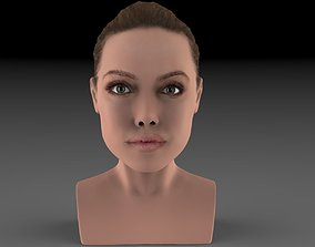 Angelina Jolie bust ready for full color 3D
