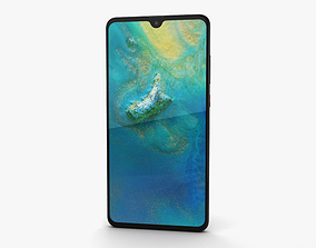 3D model Huawei Mate 20 Black
