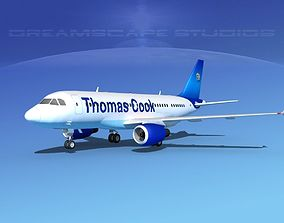 3D model Airbus A319 Thomas Cook