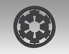 Galactic Empire symbol logo 3D print model