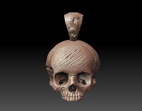 Skull pendant jewelry 3d model