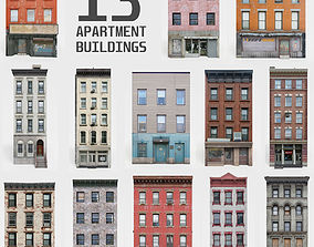 3D model 13 Apartment Buildings Collection