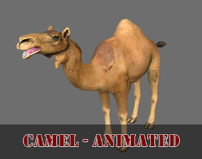ANIMATED CAMEL 3D MODEL - GAME READY animated