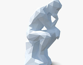 3D model The Thinker Sculpture Low