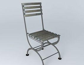 3D Anthracite chair GARDEN PARTY