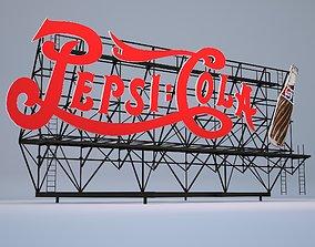 Pepsi Cola Billboard Sign 3D model