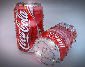 3D asset Coca cola Can