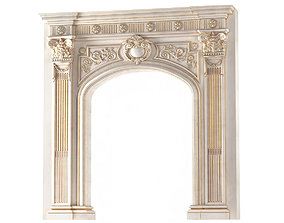 3D Arched doorway Arch in classic style column