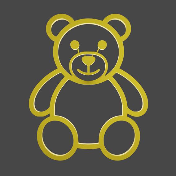 3D print bear food model