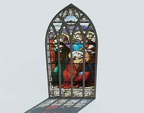 historic Gothic Window 3D