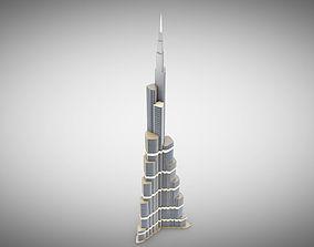 Burj Khalifa cityscape 3D model