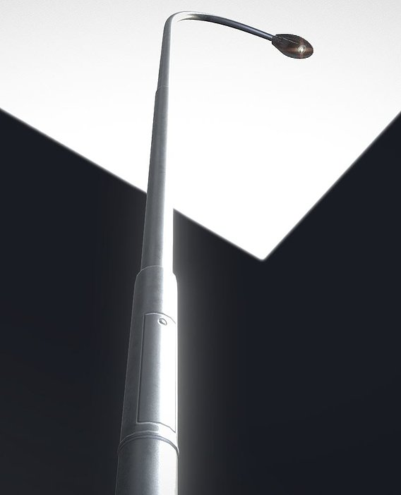 Sci-Fi Street Light 14 version 11 6m with pole 1 Blender-2.90.1