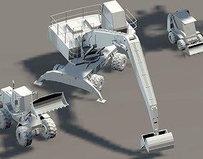 car train ship buildings manipulator 3D model