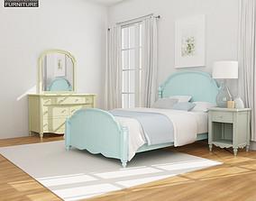 3D asset Bedroom Furniture 19 Set