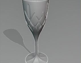 3D model Wine Glass Cut