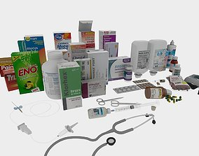 Medical necessaries 3D model