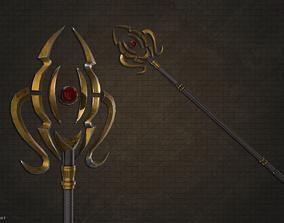 Lightbringer staff 3D asset