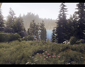 3D asset Lake Side Cabin