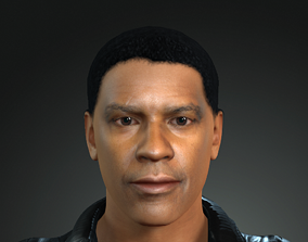 animated Denzel Washington 3D Character design Ready for