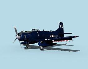 Douglas A-1H Skyraider V17 USMC 3D
