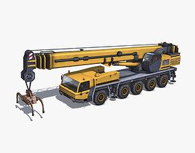 3D asset Mobile Crane