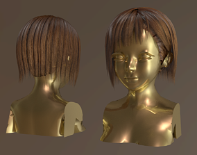 LOW POLY - HAIR RIGEED 4K PBR 3D asset