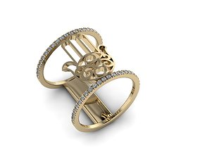 3D printable model Jewelry Hamsah ring 02