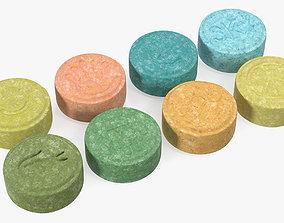 Ecstasy Pills Set 3D model